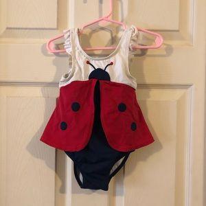 Ladybug bathing suit EUC